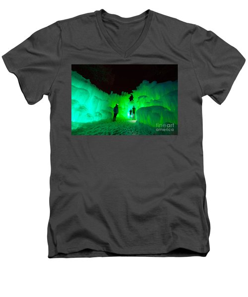Ice Castles Of Minnesota Men's V-Neck T-Shirt