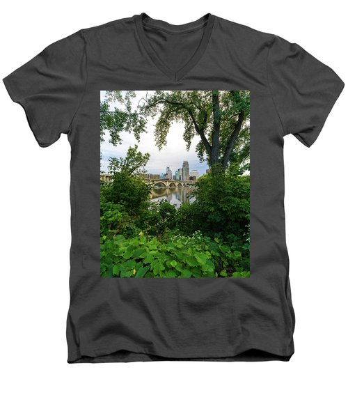 Minneapolis Through The Trees Men's V-Neck T-Shirt