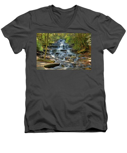 Minnehaha Falls Men's V-Neck T-Shirt