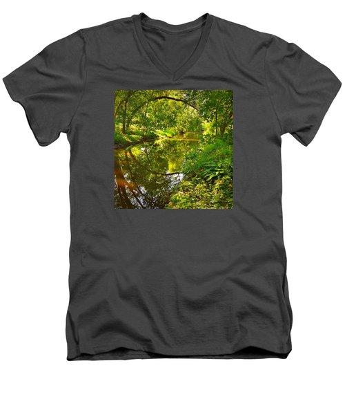 Minnesota Living Men's V-Neck T-Shirt by Lisa Piper