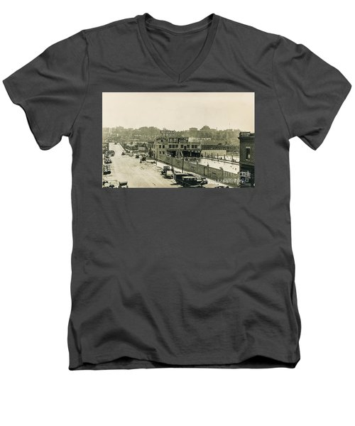 Men's V-Neck T-Shirt featuring the photograph Miramar Pool, 1927 by Cole Thompson