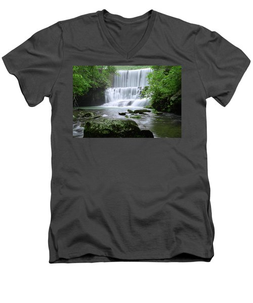 Men's V-Neck T-Shirt featuring the photograph Mirror Lake by Renee Hardison