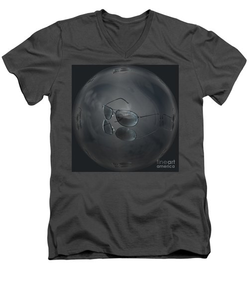 Men's V-Neck T-Shirt featuring the photograph Mirror Me by Shirley Mangini