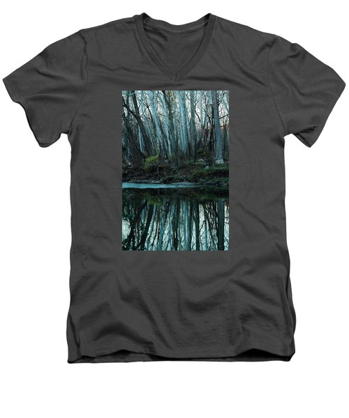 Mirrored Men's V-Neck T-Shirt by Bruce Patrick Smith