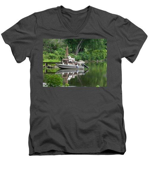 Mirrored Journey Men's V-Neck T-Shirt