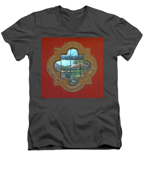 Mirrored Window Men's V-Neck T-Shirt