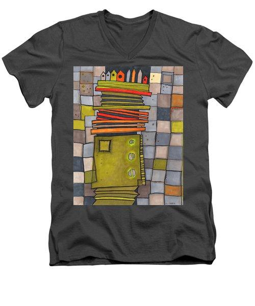 Misconstrued Housing Men's V-Neck T-Shirt by Sandra Church