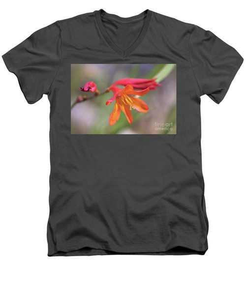 Men's V-Neck T-Shirt featuring the photograph Misplaced Beauty by Linda Lees