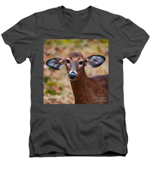 Miss Deer 1 Men's V-Neck T-Shirt