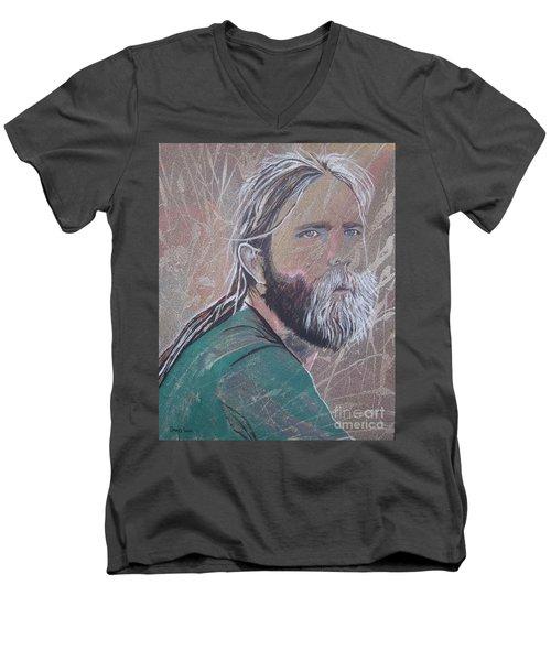 Missing Brent Men's V-Neck T-Shirt by Stuart Engel