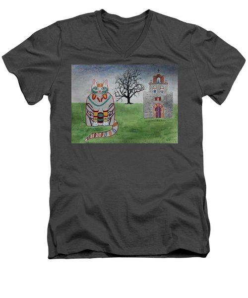 Mission Espada Cat Men's V-Neck T-Shirt