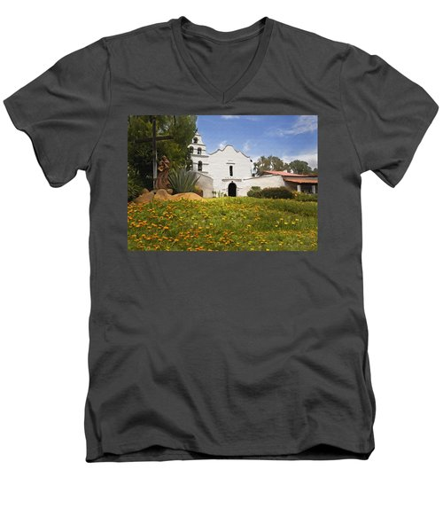 Mission San Diego De Alcala Men's V-Neck T-Shirt