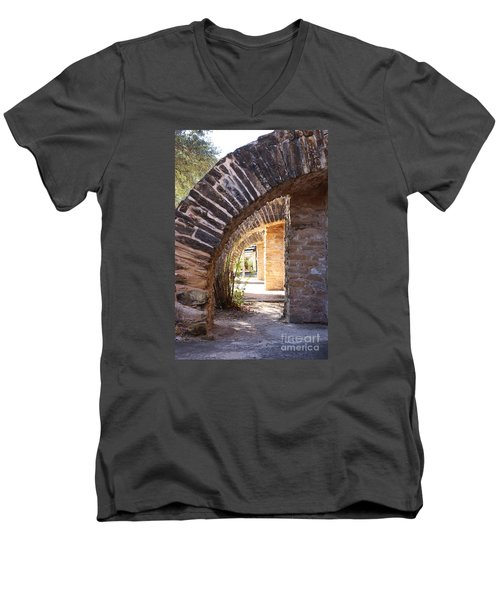 Mission San Jose Men's V-Neck T-Shirt by Jeanette French