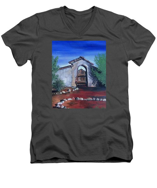 Rustic Charm Men's V-Neck T-Shirt by Mary Ellen Frazee