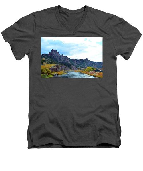 Missouri River Colors Men's V-Neck T-Shirt