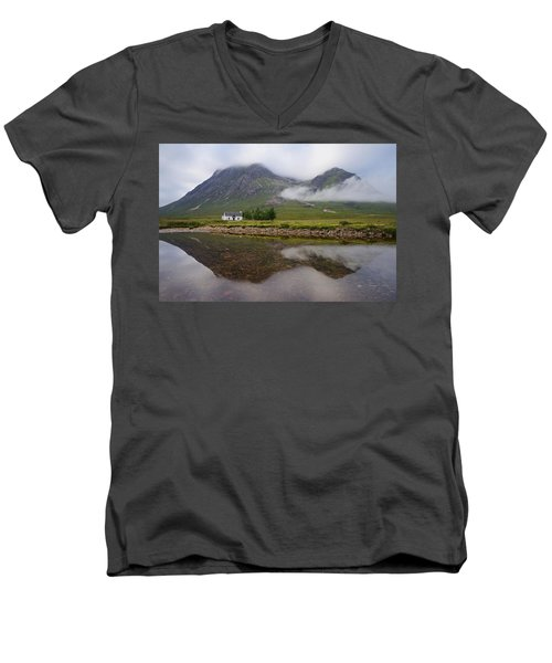 Mist At Lagangarbh Men's V-Neck T-Shirt