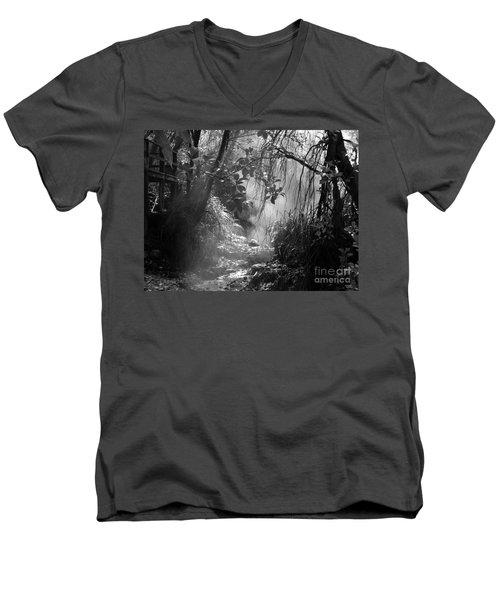 Mist In The Jungle Men's V-Neck T-Shirt by Susan Lafleur