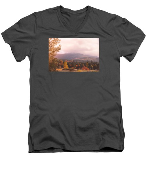 Mist On The Mountains Men's V-Neck T-Shirt