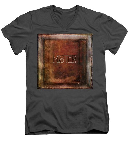Men's V-Neck T-Shirt featuring the digital art Mister by Bonnie Bruno