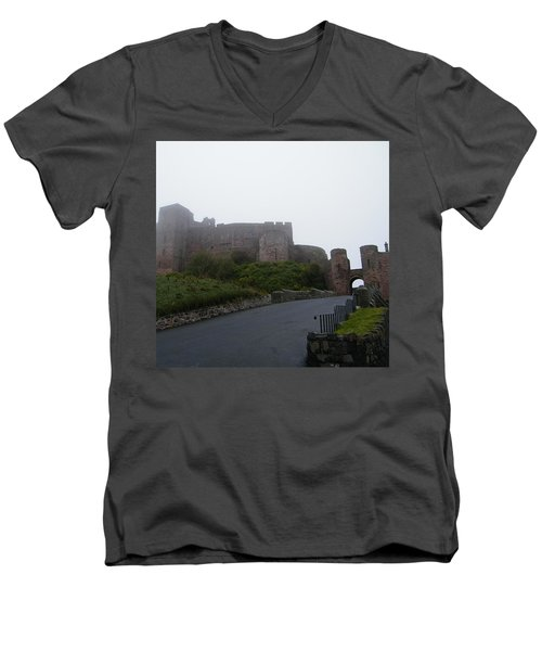 Misty Bamburgh Castle Men's V-Neck T-Shirt