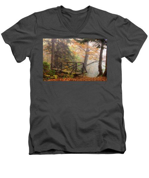 Misty Forest Men's V-Neck T-Shirt