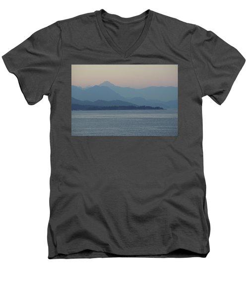 Misty Hills On The Strait Men's V-Neck T-Shirt