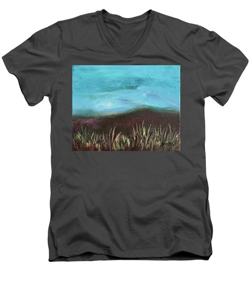 Misty Moors Men's V-Neck T-Shirt by Donna Blackhall