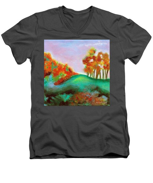 Misty Morning Men's V-Neck T-Shirt by Elizabeth Fontaine-Barr