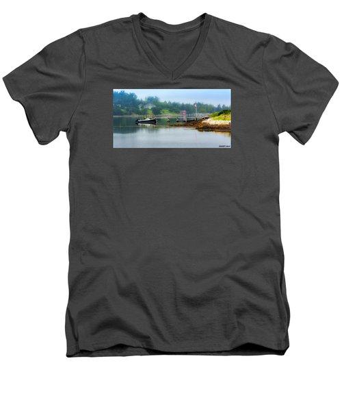 Misty Morning Men's V-Neck T-Shirt by Ken Morris