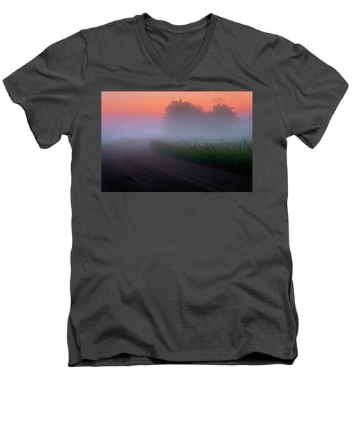 Misty Mornings Men's V-Neck T-Shirt
