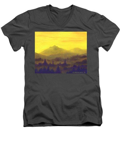 Misty Mountain Gold 01 Men's V-Neck T-Shirt