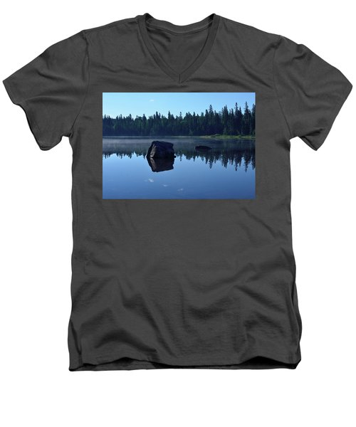 Misty Summer Morning Men's V-Neck T-Shirt by David Porteus