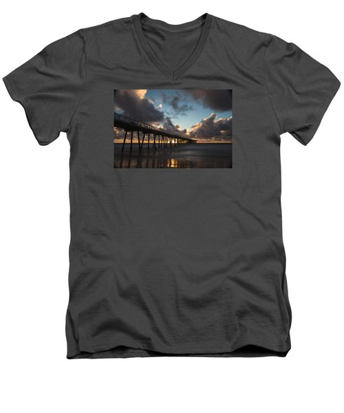 Misty Sunset Men's V-Neck T-Shirt