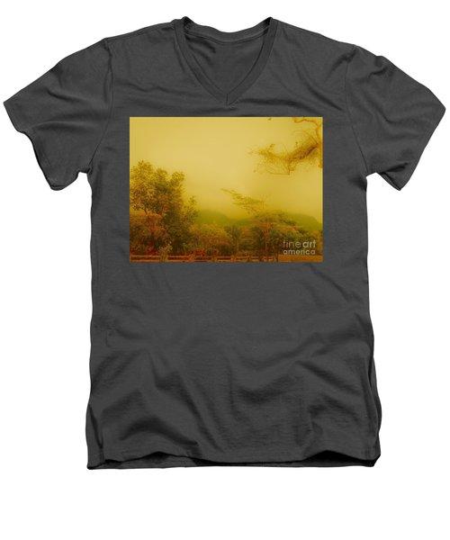 Misty Yellow Hue- El Valle De Anton Men's V-Neck T-Shirt