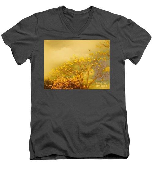 Misty Yellow Hue -poui Men's V-Neck T-Shirt