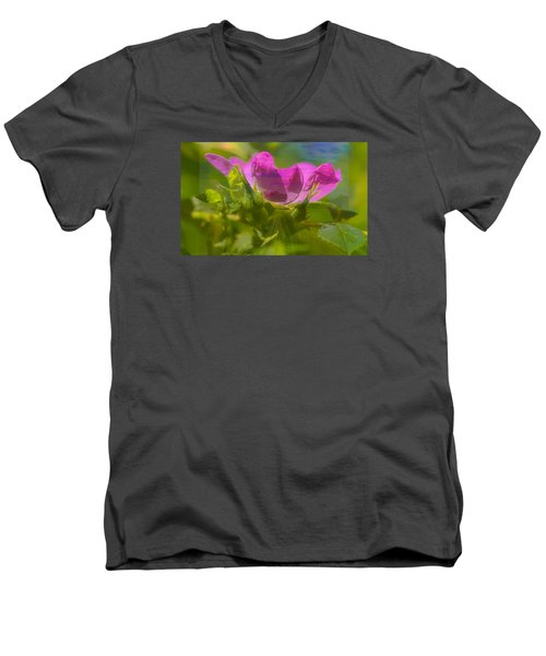Men's V-Neck T-Shirt featuring the photograph mix by Leif Sohlman