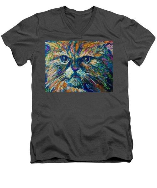 Mixed Feelings Men's V-Neck T-Shirt by Maxim Komissarchik
