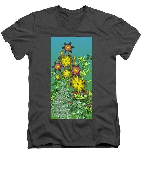 Mixed Flowers Men's V-Neck T-Shirt