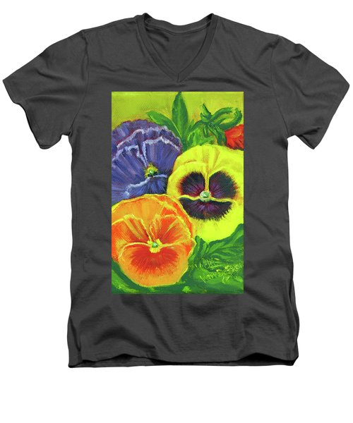 Mixed Pansy  Men's V-Neck T-Shirt