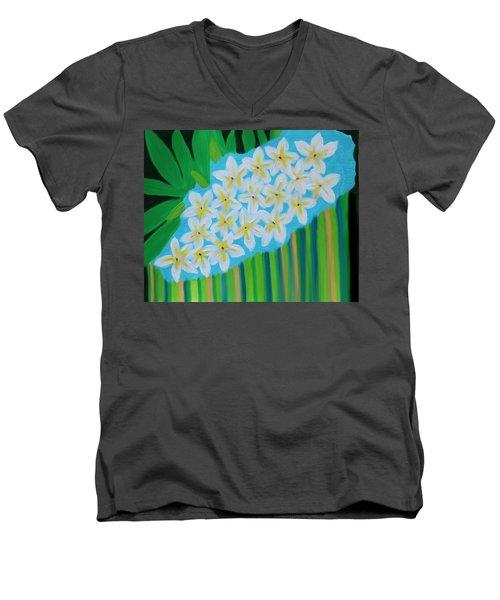 Mixed Up Plumaria Men's V-Neck T-Shirt