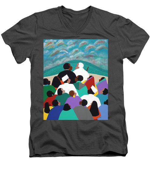 Mlk Called To Serve Men's V-Neck T-Shirt