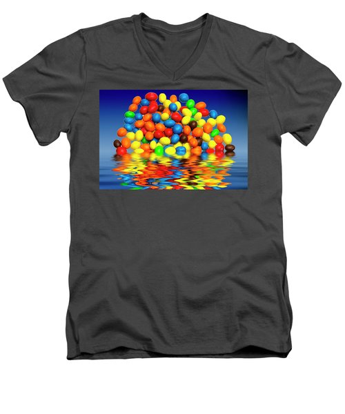 Men's V-Neck T-Shirt featuring the photograph Mm Chocolate Sweets by David French