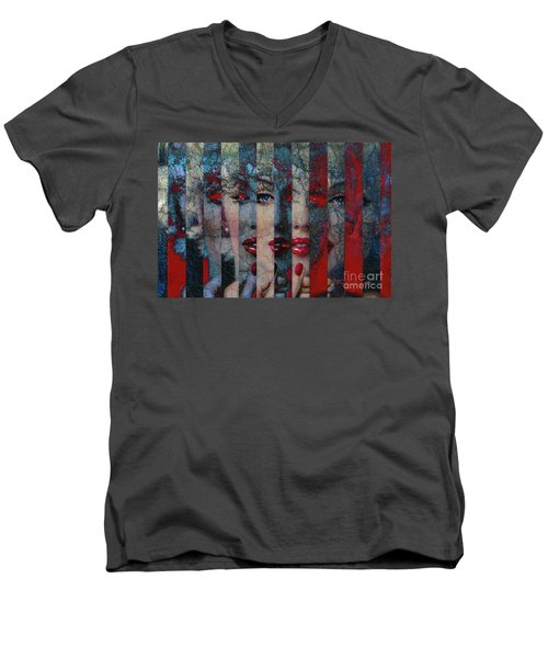 Mmarilyn 132 Sis Men's V-Neck T-Shirt