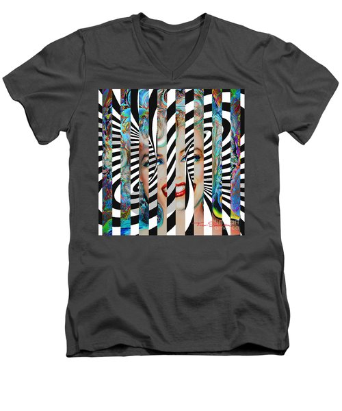 Mmother Of Pearl Sis 3 Men's V-Neck T-Shirt