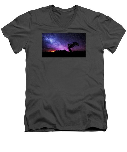 Moab Skies Men's V-Neck T-Shirt by Chad Dutson