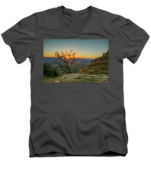 Moab Tree Men's V-Neck T-Shirt by Kristal Kraft