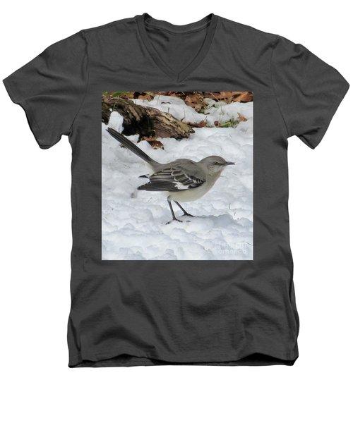 Mockingbird In The Snow Men's V-Neck T-Shirt