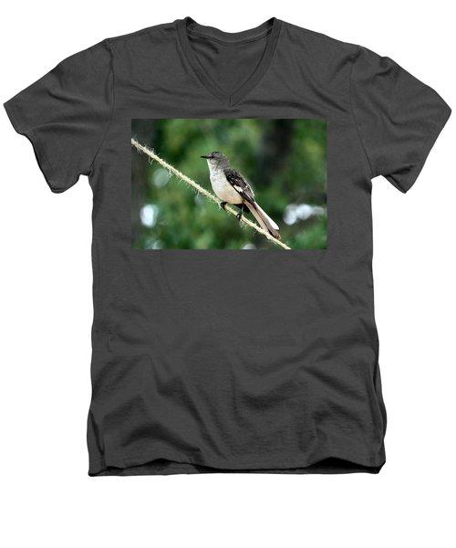 Mockingbird On Rope Men's V-Neck T-Shirt