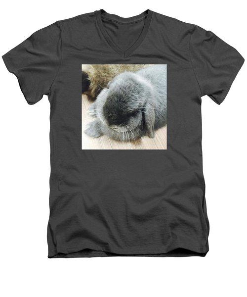 Mococo Men's V-Neck T-Shirt by Nao Yos