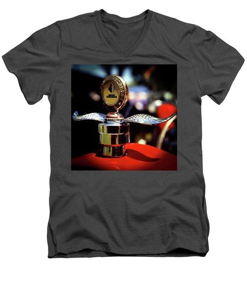 Model T Tempreature Gauge Men's V-Neck T-Shirt
